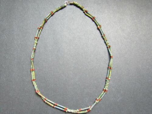 NILE  Ancient Egyptian Double Strand Amulet Mummy Bead Necklace ca 600 BC