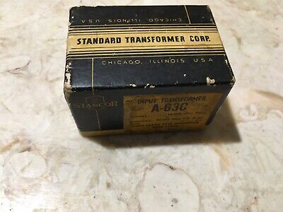 Stancor A-63C Input Transformer for 7,000 to 15.000 Ohms plate impedance - Nos Input Impedance Transformer