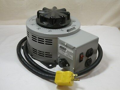 Staco 3pn2210b Variable Transformer 120v Input 0-140vac Output 22a Works Fine