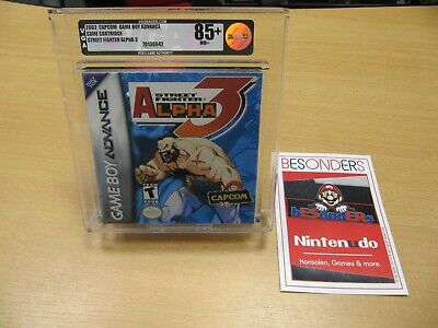GAMEBOY ADVANCE - STREET FIGHTER ALPHA 3 - VGA 85+ NM+ GOLD...