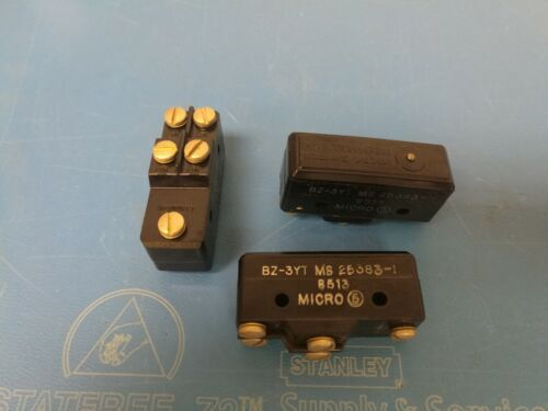 3 PCS - Micro BZ-3YT Micro Switch MS25383-1 NEW - no packaging/box