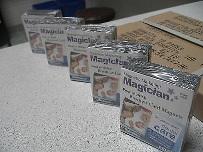 500 Self Adhesive Peel And Stick Business Card Promotional Magnets