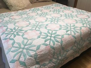 Antique hand stitched quilt