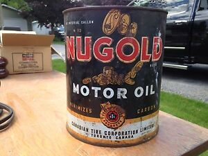 Nugold Motor Oil Can