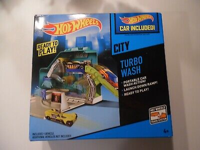 Hot Wheels Turbo Car Wash Playset - new - car included