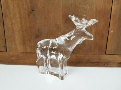 Flawless Signed Crystal Moose Figurine