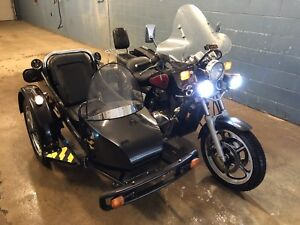Shadow 1100 and sidecar with reverse
