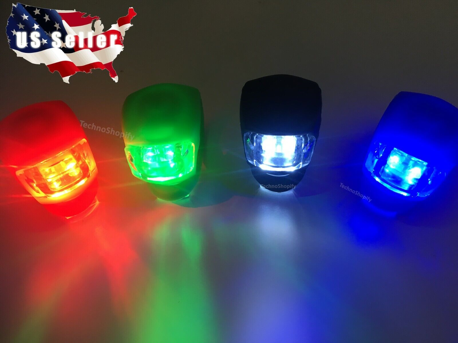 SNAKE LED Bicycle Cycling Bike Light Handle Front Rear Tail
