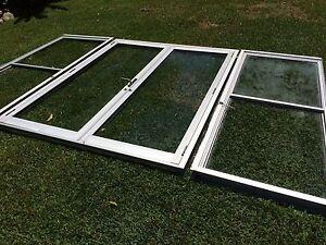 Aluminium Double French Doors and Windows Set x2 Umina Beach Gosford Area Preview