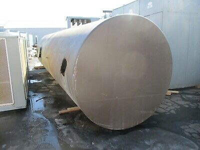 Large Water Storage Tank Metal 26 Long 7 Diameter 7500 Gallons Used