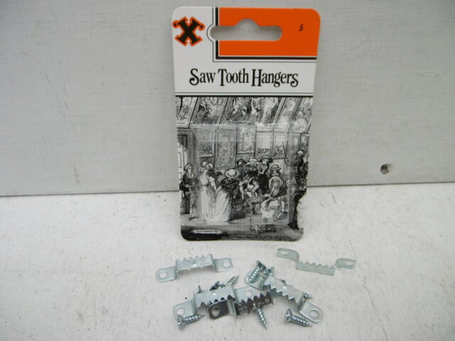 PACK OF 5 X HOOK SAW TOOTH PICTURE HANGERS