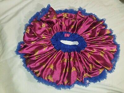 Disney Collection By Tutu Couture Tutu Skirt Girls Size 6/6x Blue Pink - Tutu Couture Kostüm