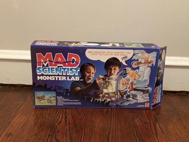 Mad Scientist Monster Lab Vintage 1986 Mattel Incomplete with Original Box