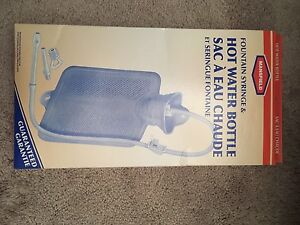 Brand New, SEALED  Mansfield Hot Water Bottle & Fountain Syringe