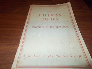 1956 Hillman Husky Owner's Manual