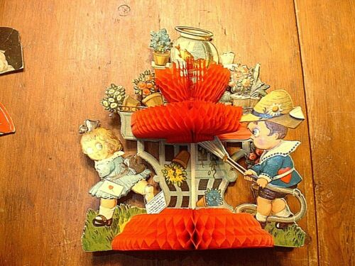 Antique Victorian 3D Pop Up Die Cut Valentine
