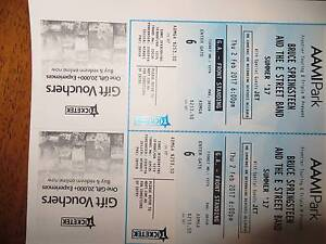 Bruce Springsteen tickets x 2 - AAMI Park 02/02/17 6pm Lilydale Yarra Ranges Preview
