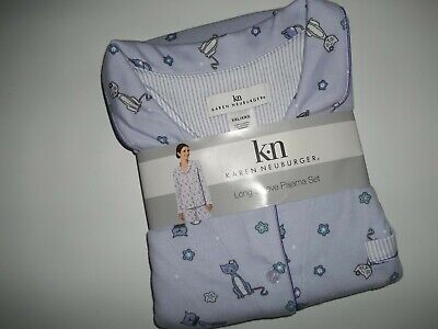 KAREN NEUBURGER 2 Pc PAJAMAS SET CAT Pajama Pants & Top Plus Womens XXL 2XL NEW