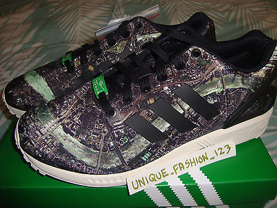 ADIDAS ZX FLUX LONDON CITY SERIES US 9.5 UK 9 43 1/3 MOSCOW NEW YORK BERLIN 8000