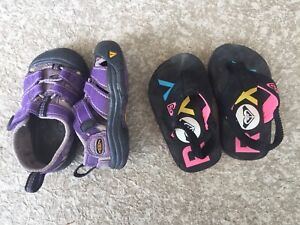 Toddler Keen's and Roxy sandals