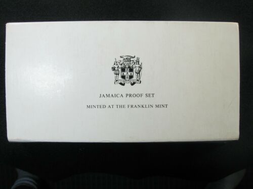 1973 JAMAICA Proof Set  -  Box and COA  -  5 Dollar Silver Coin -  Franklin Mint