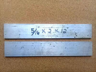 2 Pieces Of 516 X 2 X 12 Long 6061 Aluminum Bar Solid Stock T6511