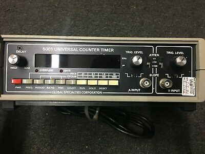 Universal Counter Timer 5001 Global Specialties Corporation