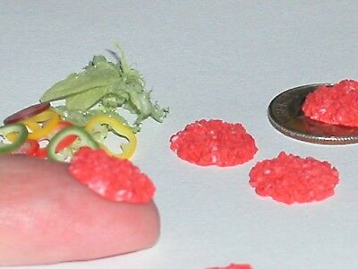 3pc Miniature dollhouse tiny Raw Hamburger Meat Patties Halloween deli food * for sale  McKinney