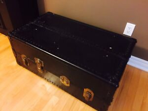 Antique Chest Black in Color-Coffee Table