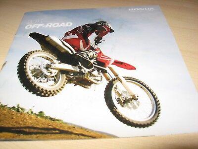 Honda Off Road Range (CRF) Motorcycle Sales Brochure 2011