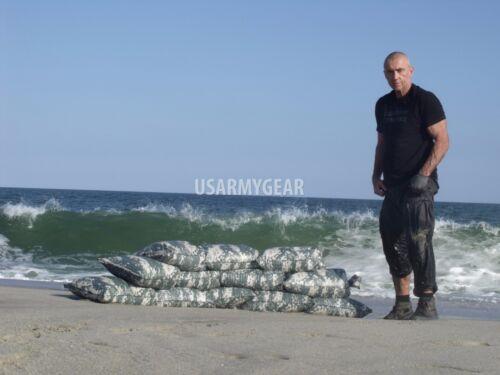 Sandbags Sand Bags Flood Erosion Barrier Hurricane Prep Army Military ACU Camo