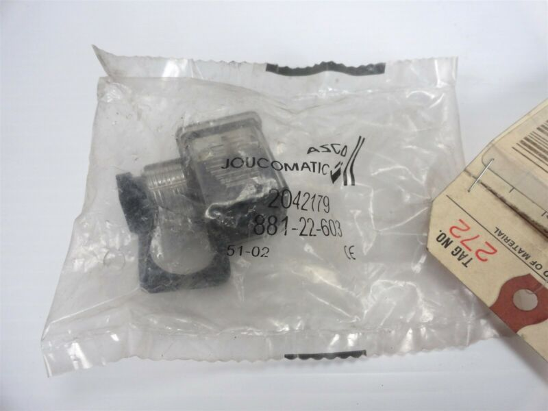 ASCO / Joucomatic - Type 30 Connector with LED 24V DC/AC 881-22-603 (NEW)