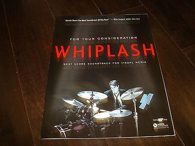 WHIPLASH Oscar ad  Miles Teller on drums, J.K. Simmons, Damien Chazelle