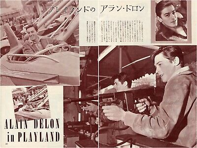 ALAIN DELON in Playland 1961 Vintage Japan Picture Clippings 2-Pages #EB/M