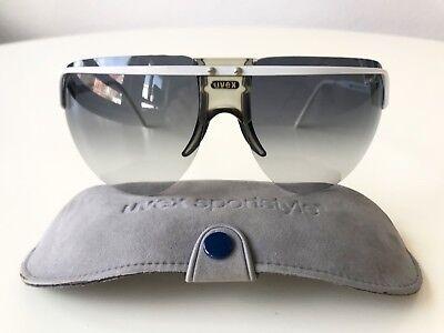 vintage UVEX SportStyle 78 white sunglasses shield ski W.Germany 80s