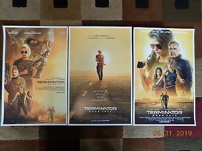 "Terminator: Dark Fate ( 11"" X 17"" ) Movie Collector's Poster Prints ( Set of 3 )"
