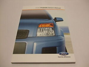 FORD FUSION 2001 - 2012 OWNERS HANDBOOK - MANUAL - GUIDE - CG3441