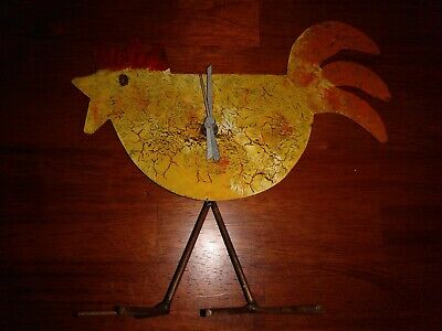 Country Originals Inc. (Kalalou) Table Top Metal Chicken Clock
