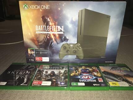 Xbox One S 1TB Battlefield 1 Ltd Edition Console + Games