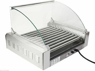 Stainless Steel Commercial 11 Roller Grill And 30 Hot Dog Cooker Machine