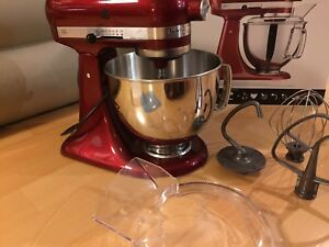 Red KitchenAid  Artisan Stand Mixer in a very good condition.