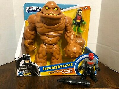 Oozing Clayface Red Hood Damian Robin Imaginext DC Super Friends