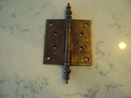 ANTIQUE CAST BRONZE EASTLAKE DOOR HINGE 4 1/2