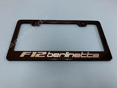 1x F12Berlinetta Real 3K Twill Weave CARBON FIBER License Plate Frame Holder*