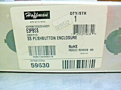 Hoffman E3pbss Stainless Steel Pushbutton Enclosure 59630 New
