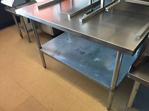Stainless steel food prep tables