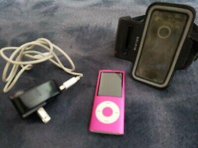 Apple iPod Nano MP3 PLAYER A1285 5th Gen 8GB HOT PINK PLUS  Accessories