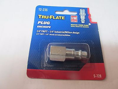 3 Tru-flate Air Line Compressor Fittings 14 Female Hose 12-235 Im Style