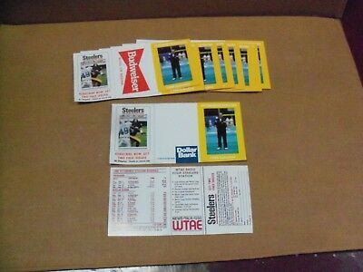 Pgh Steelers, 10 Schedules, 1988, Chuck Noll, UNFOLDED, All the Same, Clean