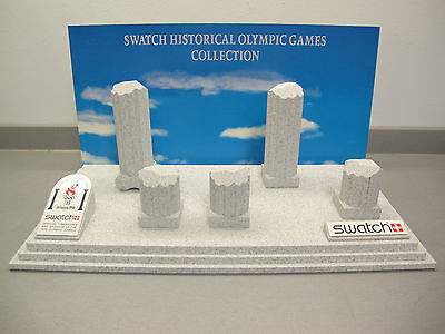 NICE 1996 ATLANTA CENTENNIAL OLYMPIC GAMES SWATCH WATCH DISPLAY - VERY RARE!